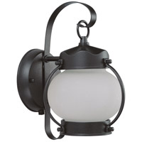 Nuvo Lighting Signature 1 Light Outdoor Wall Lantern with Photocell in Textured Black 60/3943
