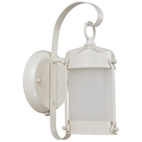 Nuvo Lighting Signature 1 Light Outdoor Wall Lantern with Photocell in White 60/3944