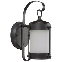 Nuvo Lighting Signature 1 Light Outdoor Wall Lantern in Textured Black 60/3946