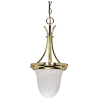 Nuvo Lighting Signature 1 Light Pendant in Polished Brass 60/396