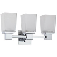 Parker 3 Light 19 inch Polished Chrome Vanity & Wall Wall Light