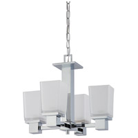 Nuvo 60/4005 Parker 4 Light 18 inch Polished Chrome Chandelier Ceiling Light