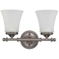 Nuvo 60/4012 Teller 2 Light 14 inch Aged Pewter Vanity & Wall Wall Light photo thumbnail