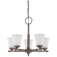 Teller 5 Light 22 inch Aged Pewter Chandelier Ceiling Light