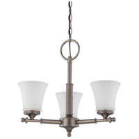 Nuvo Lighting Teller 3 Light Chandelier in Aged Pewter 60/4016