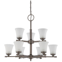 Nuvo Lighting Teller 9 Light Chandelier in Aged Pewter 60/4019