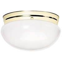 Nuvo Lighting Signature 2 Light Flushmount in Polished Brass 60/402