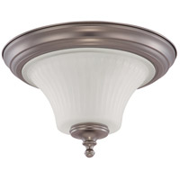 Nuvo Lighting Teller 2 Light Flushmount in Aged Pewter 60/4021