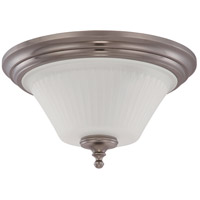 Nuvo Lighting Teller 3 Light Flushmount in Aged Pewter 60/4022