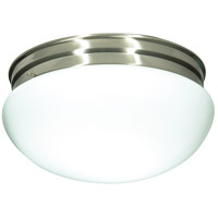 Nuvo 60/406 Signature 2 Light 12 inch Brushed Nickel Flushmount Ceiling Light
