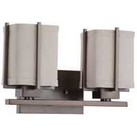 Nuvo Lighting Logan 2 Light Vanity & Wall in Hazel Bronze 60/4062