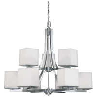 Nuvo Lighting Bento 9 Light Chandelier in Polished Chrome 60/4089 photo thumbnail