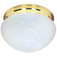 Nuvo Lighting Signature 2 Light Flushmount in Polished Brass 60/410