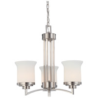 Nuvo Lighting Harmony 3 Light Chandelier in Brushed Nickel 60/4104
