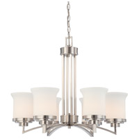 Nuvo 60/4105 Harmony 6 Light 26 inch Brushed Nickel Chandelier Ceiling Light photo thumbnail
