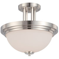 Nuvo 60/4107 Harmony 2 Light 14 inch Brushed Nickel Semi-Flush Ceiling Light
