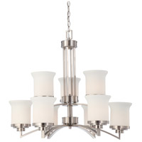 Nuvo Lighting Harmony 9 Light Chandelier in Brushed Nickel 60/4109 photo thumbnail
