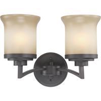 Nuvo 60/4122 Harmony 2 Light 15 inch Dark Chocolate Bronze Vanity & Wall Wall Light