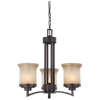 Nuvo Lighting Harmony 3 Light Chandelier in Dark Chocolate Bronze 60/4124