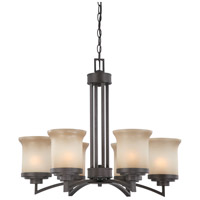 Harmony 6 Light 26 inch Dark Chocolate Bronze Chandelier Ceiling Light
