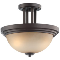 Nuvo 60/4127 Harmony 2 Light 14 inch Dark Chocolate Bronze Semi-Flush Ceiling Light