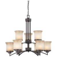 Nuvo Lighting Harmony 9 Light Chandelier in Dark Chocolate Bronze 60/4129