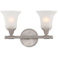 Nuvo 60/4142 Surrey 2 Light 16 inch Brushed Nickel Vanity & Wall Wall Light