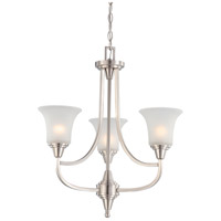 Nuvo 60/4145 Surrey 3 Light 22 inch Brushed Nickel Chandelier Ceiling Light