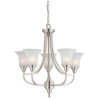 Nuvo 60/4146 Surrey 5 Light 24 inch Brushed Nickel Chandelier Ceiling Light