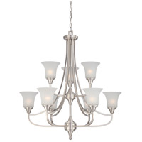 Nuvo 60/4149 Surrey 9 Light 32 inch Brushed Nickel Chandelier Ceiling Light