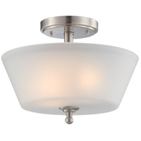 Nuvo 60/4151 Surrey 2 Light 13 inch Brushed Nickel Semi-Flush Ceiling Light