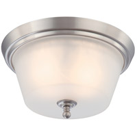 Surrey 2 Light 13 inch Brushed Nickel Flushmount Ceiling Light
