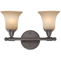 Surrey 2 Light 16 inch Vintage Bronze Vanity & Wall Wall Light