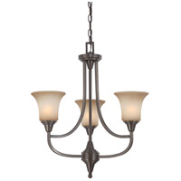 Nuvo 60/4165 Surrey 3 Light 22 inch Vintage Bronze Chandelier Ceiling Light