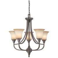 Nuvo 60/4166 Surrey 5 Light 24 inch Vintage Bronze Chandelier Ceiling Light