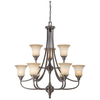 Nuvo Lighting Surrey 9 Light Chandelier in Vintage Bronze 60/4169