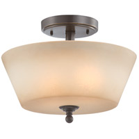 Surrey 2 Light 13 inch Vintage Bronze Semi-Flush Ceiling Light