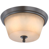 Surrey 2 Light 13 inch Vintage Bronze Flushmount Ceiling Light