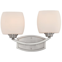 Helium 2 Light 15 inch Brushed Nickel Vanity & Wall Wall Light