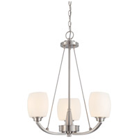 Nuvo 60/4185 Helium 3 Light 20 inch Brushed Nickel Chandelier Ceiling Light