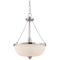 Nuvo Lighting Helium 3 Light Pendant in Brushed Nickel 60/4187