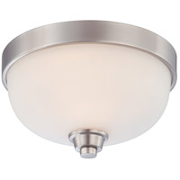 Helium 1 Light 11 inch Brushed Nickel Flushmount Ceiling Light