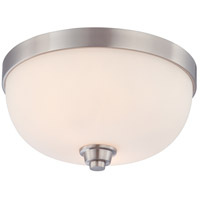 Helium 2 Light 13 inch Brushed Nickel Flushmount Ceiling Light
