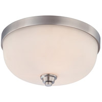 Helium 3 Light 15 inch Brushed Nickel Flushmount Ceiling Light