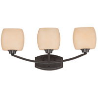 Nuvo Lighting Helium 3 Light Vanity & Wall in Vintage Bronze 60/4203