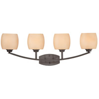 Nuvo Lighting Helium 4 Light Vanity & Wall in Vintage Bronze 60/4204