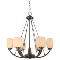 Nuvo Lighting Helium 6 Light Chandelier in Vintage Bronze 60/4206