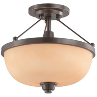 Nuvo Lighting Helium 2 Light Semi-Flush in Vintage Bronze 60/4208