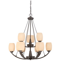 Nuvo Lighting Helium 9 Light Chandelier in Vintage Bronze 60/4209