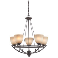Nuvo Lighting Carousel 5 Light Chandelier in Sudbury Bronze 60/4226 photo thumbnail